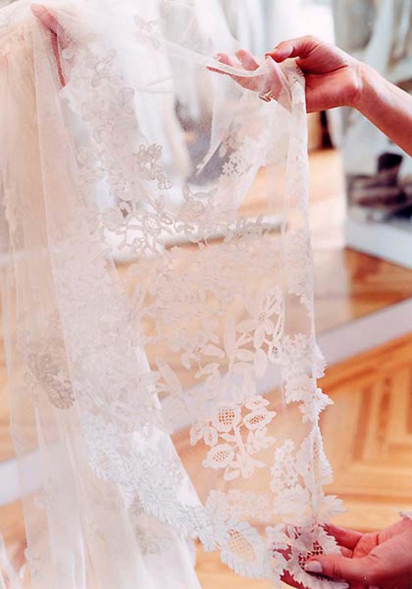 Mantilla en una boda