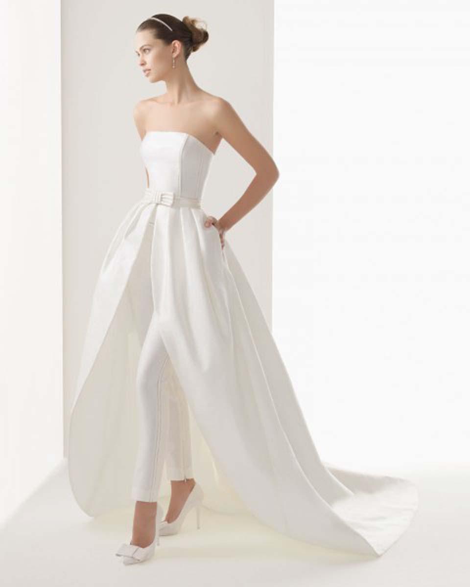 Vestidos de novia tipo pantalon