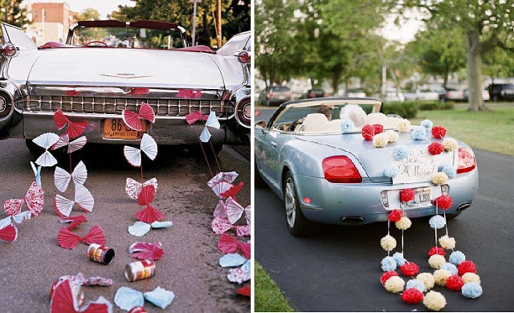 ideas para coche de novios decoración