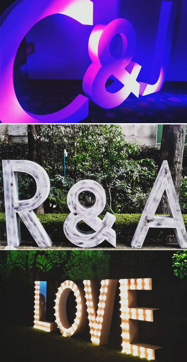 letras luminosas boda original