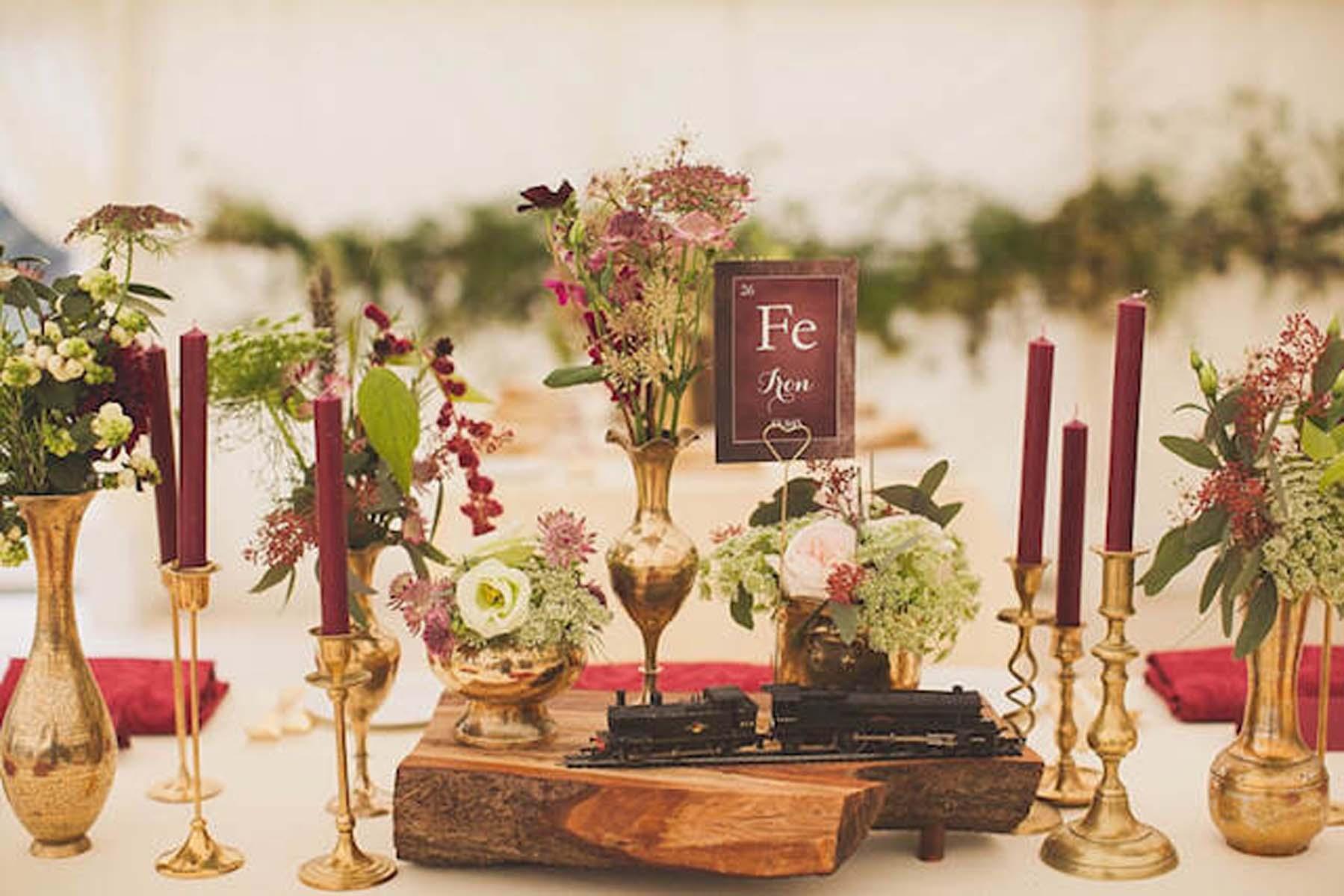 Colores de boda. Marsala