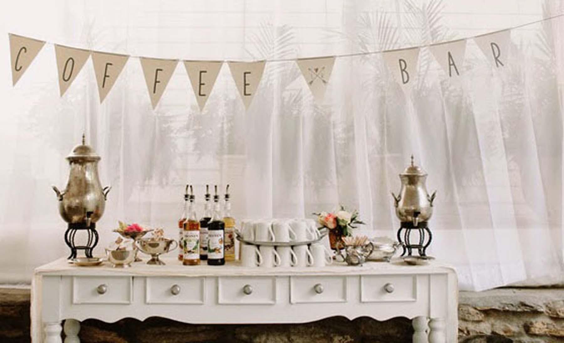 Mesas de café para tu boda