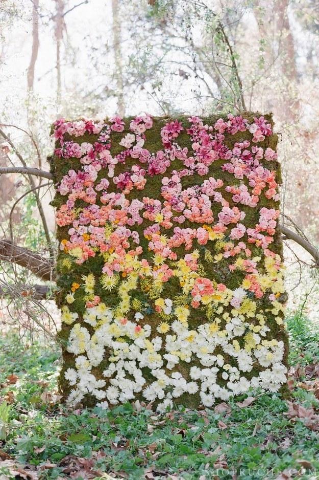 photocall de flores