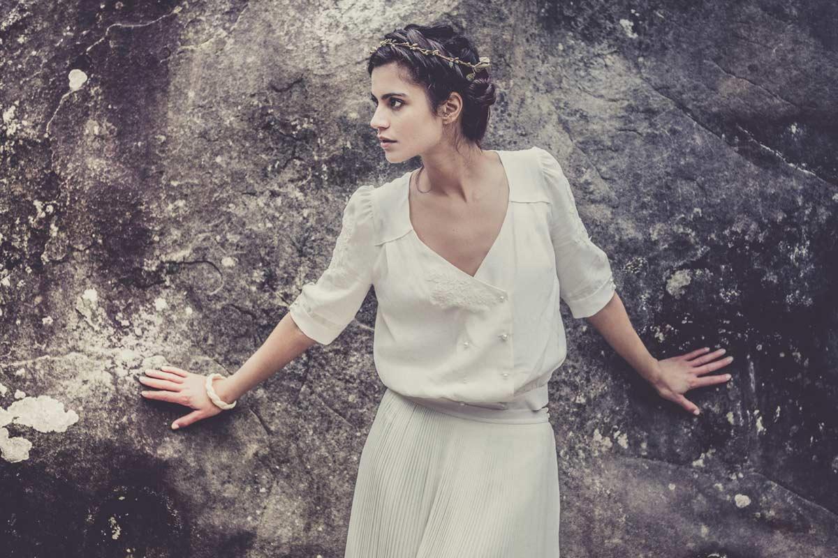 vestido de novia camisero