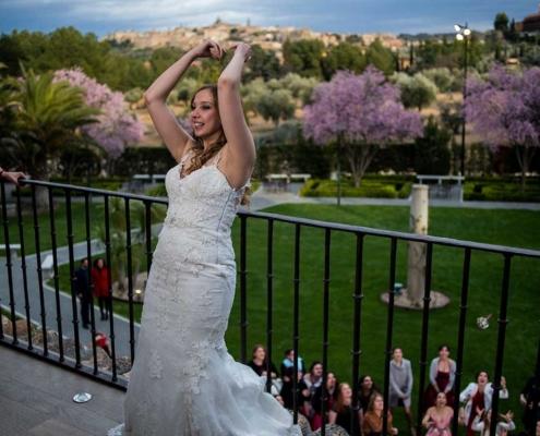 Lanzamiento ramo de novia Cigarral del Ángel