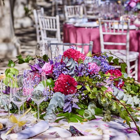 decoración de mesa primaverales